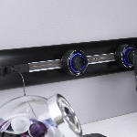 Schuko Premium Socket GS3 Black - Aluminium rim- Blue Led