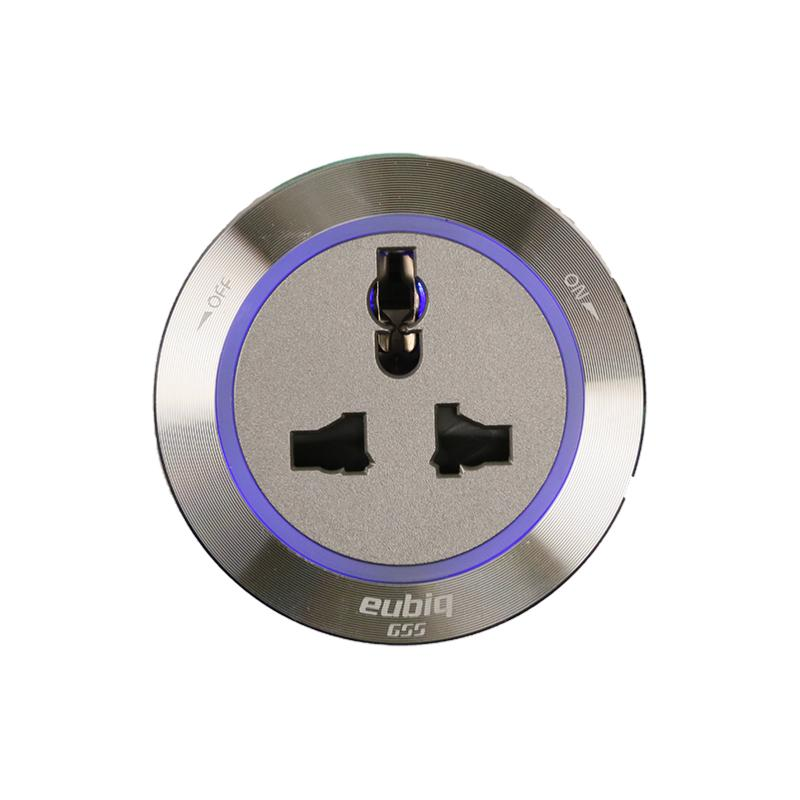 International Premium socket ITL3 Titanium - Aluminium Rim - Blue Led