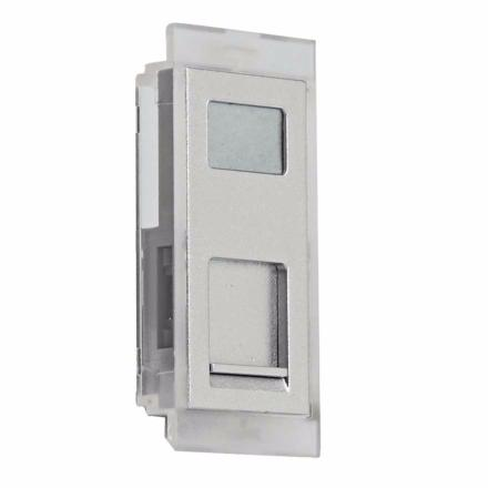 DS3 - Data faceplate RJ45, for RH1 Housing - Aluminium finishing